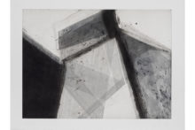 José Pedro Croft, Untitled, 2018, Aquatint, mezzotint, aquafort, and dry point, 148 x 198 cm