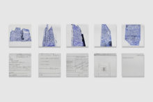Eirene Efstathiou, Neoptolemou/Sea, 2009, pencil and colored pencil on 10 panels, each panel 18x18cm (private collection)