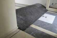 Younes Baba-Ali, Untitled (Speed bump), 2012, Mixed media, variable dimensions - installation in-situ