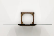 José Pedro Croft, Untitled, 1995, Wood and mirror, 42 x 90 x 63 cm (coll Peter Meeker, in deposit at Serralves Foundation)