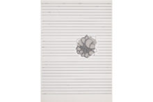Gudny Rosa Ingimarsdottir, undir strikum, 2021, Sewing and pencil on paper - Couture et crayon sur papier, 29,7 x 21 cm